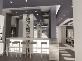 Design for a Vienna cafe in Blevedere Holiday Club