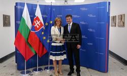 Foreign Minister Zaharieva Confers with Slovak Counterpart Lajcak in Bratislava