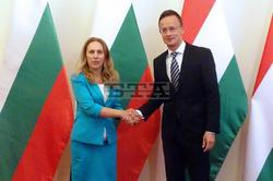 Deputy Prime Minister Nikolova Meets with Hungarian Foreign Minister Szijjarto in Budapest