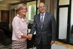 Foreign Minister Zaharieva, PM Borissov Confer with Visiting Greek Foreign Minister Dendias