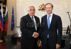 PM Borissov Confers with Russian Trade and Industry Minister Manturov