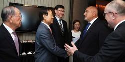 Борисов се срещна с корейски бизнесмени