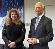 Bulgarian Vice President Iotova Confers with Secretaries General of Council of Europe, PACE