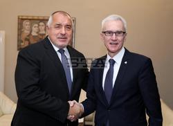 Bulgarian PM Borissov Confers with INTERPOL Secretary General Stock