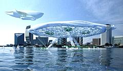 Плаващ аерохотел – чудо на модерната архитектура